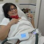 המסת שומן בקור - אתי דודאי במהלך הטיפול