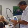 הדוגמנית אורית פוקס בטיפול המסת שומן בקור